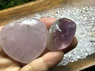 Rose Quartz Heart & Ametrine