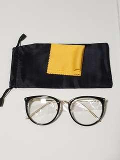 Vintage Black with full gold rod spectacle frame