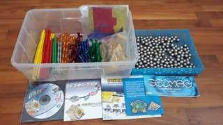 PL GEOMAG MAGNETIC TOY MULTIPLE SETS 200+ PIECES