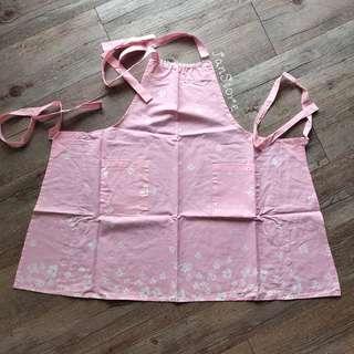 Authentic Aupres Pink Floral Apron