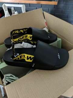 Price Firm/No Trade : euro 44 off white industrial sandal slide