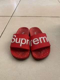 Supreme flip flops sandals for toddlers for sale