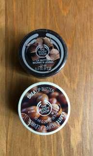 THE BODY SHOP lip butters x2