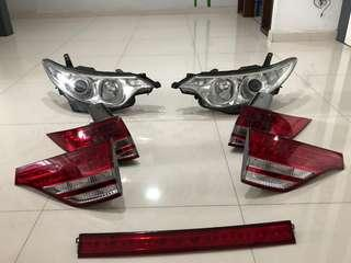 2008 estima front n tail lamp 4sale cheap!
