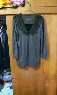 韓國 毛毛領 上衣