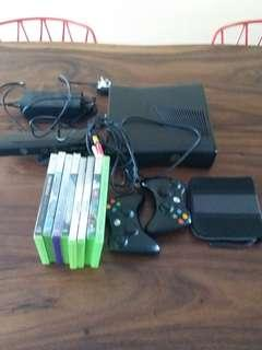 xbox 360 kinect  complete set with games