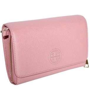 Tory Burch Bombe Flat Wallet Crossbody Handbag