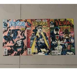 VENOM: FUNERAL PYRE #1-3 (1993) Complete set