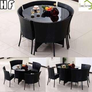 Outdoor table/Rattan table/Dining table/Round table