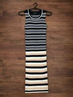 MDS Stripe Knit Dress