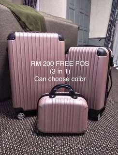 🆓POS Luggage bag 3in1