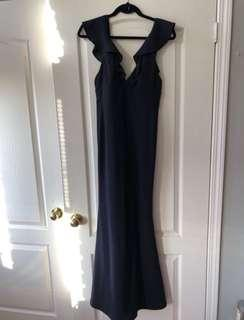 Lulus Perfect Opportunity Navy Blue Dress