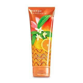 Bath and Body Works Mango Mandarin Ultra Shea Body Cream Lotion 226g BBW cream Mango Mandarin