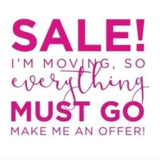 Sale!! Clothes, Electronics, Appliances, Furniture
