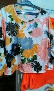 Korean inspired floral tops