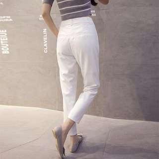 [BNWT] White High Waist Korean Pants #PRECNY60