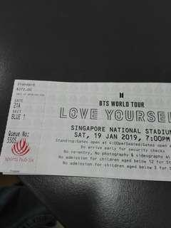 (WTS/SELLING) BTS Concert Ticket CAT 2 BLUE
