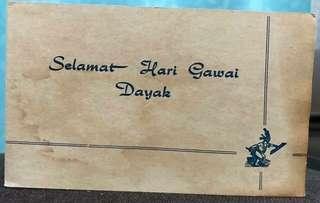 Vintage Dayak Greeting Card RARE