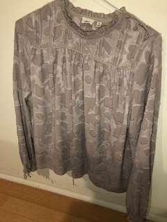 Aritzia Wilfred Lourdes silk top size xxs