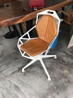 Original rare magis one chair with swivel base leather