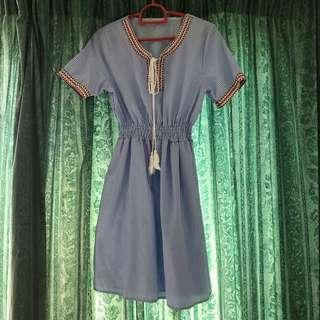 Stripes Chiffon Bohemian Dress