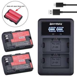 Canon LP-E6 2pcs with USB Charger