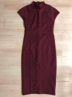 Zara Maroon Dress