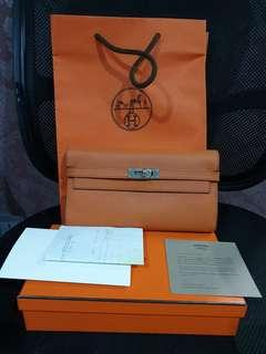 Hermes Kelly Wallet with receipt,box,paperbag