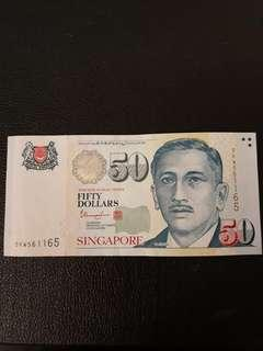 SG $50 DOLLAR with Radar Numbers