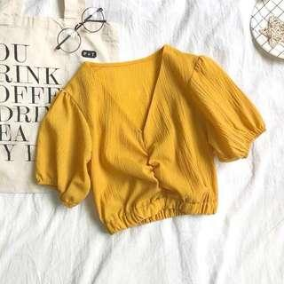 🆕 READY STOCK WRAP TOP