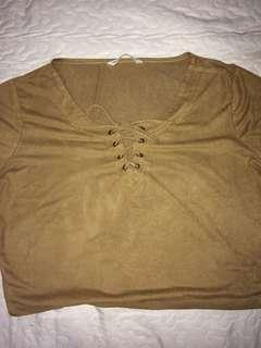 Suede Lace Up Shirt