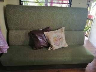 Wooden down  sofa no scratch issue  price negotiable