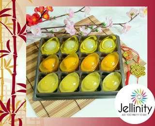 CNY 2019 富贵三宝新春果冻元宝 Prosperity Trio Golden Ingot (Yuanbao) Jelly Set