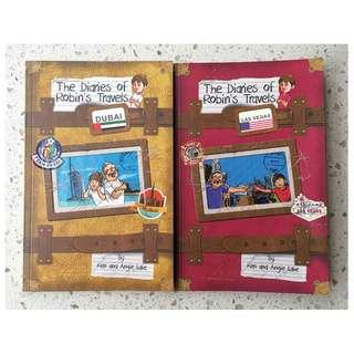 2 The Diaries of Robin's Travels Children's Books by Ken and Angie Lake