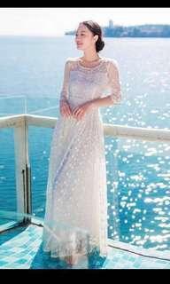 [BNWT] White Yellow Floral Lace Dress #PRECNY60