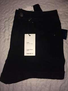 Black high waisted jean shorts