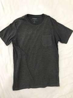 SPAO Dark Grey Striped T-shirt