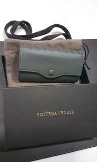 Bottega veneta grey key pouch