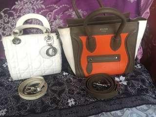 Christian dior celine nano luggagemini bag and celine skirt take all