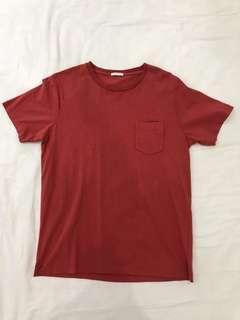 Men's GU Red T-shirt from Japan