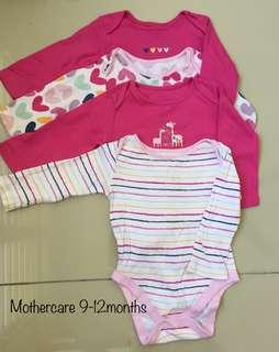 Mothercare Rompers 9-12months