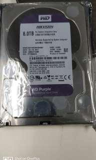 Hikvision WD purple HDD 6TB