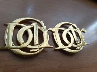 Authentic Christian Dior Brooch 14k Gold plated