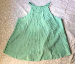 Mint green summer top