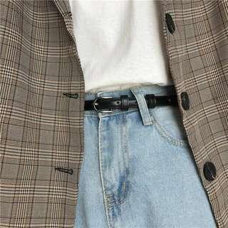 🚚 Black Leather Belt (Thin)