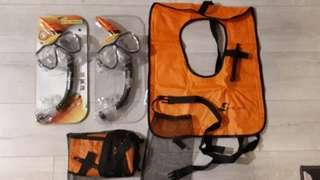 Inflatable snorkel life jacket and Snorkel mask