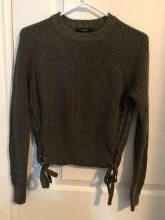 Forever 21 Olive Green Knit Sweater