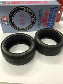 Tamiya R/C RC Parts #53224 1/10 4WD/FWD Touring Car M2 Slicks Tire(1 pair)