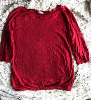 Promod Red mid-sleeves
