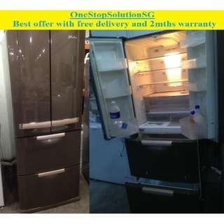 Mitsubishi Folio (460L) 4 doors fridge / refrigerator ($390 + FREE delivery and 2mths warranty)
